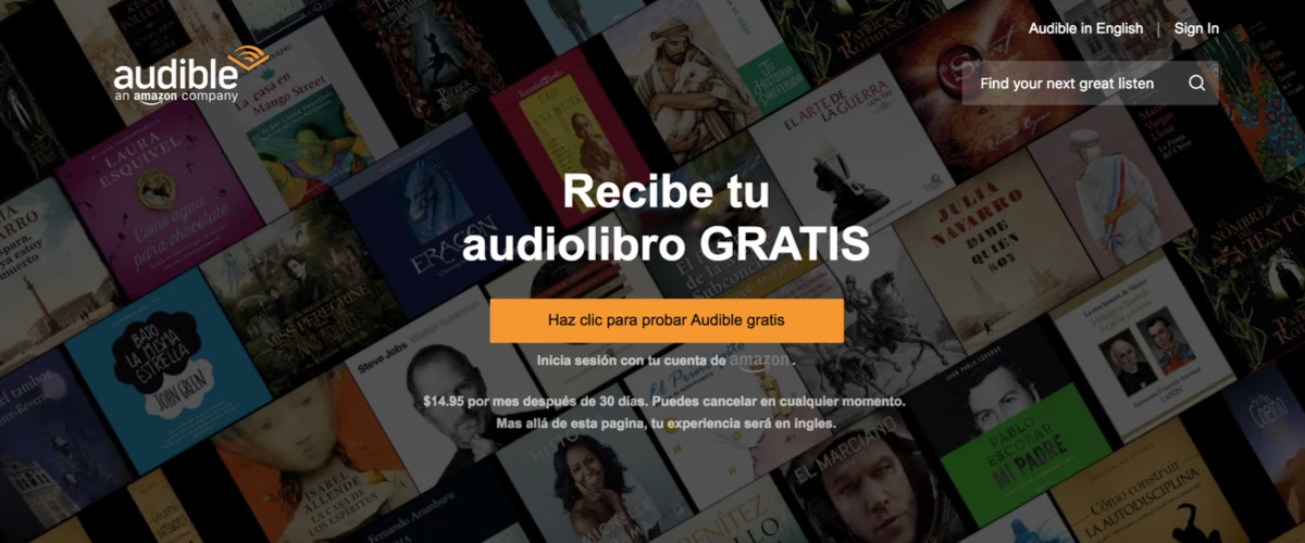 audible amazon audiolibros