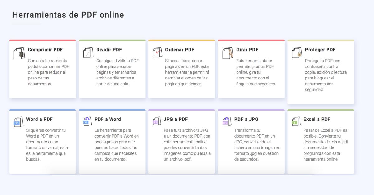 herramientas pdf en linea conversor